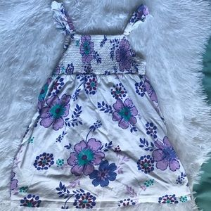 Old Navy White and Purple Floral Dress Size 3T